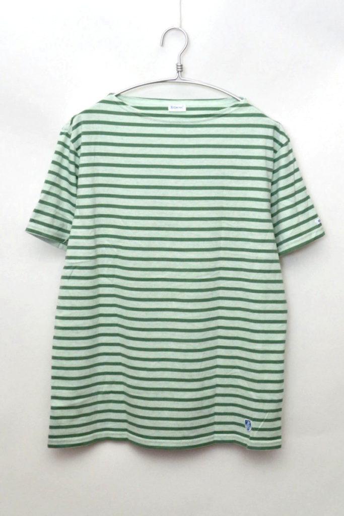 40/2 Stripe ボートネック ボーダーTシャツ