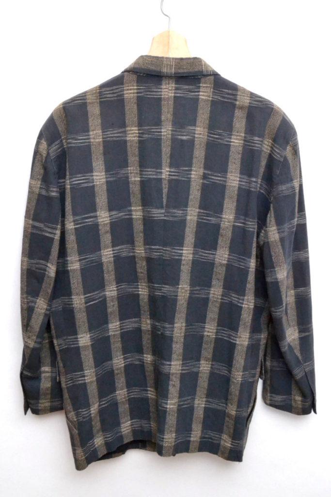 80's コットンリネン チェックテーラードジャケットの買取実績画像