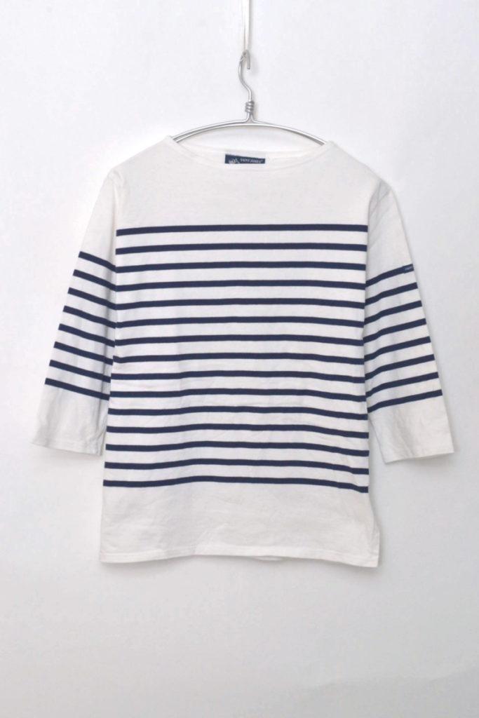 NAVAL 7SL ナヴァル七分袖 パネルボーダーバスクシャツ カットソー