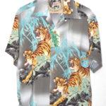 2017/ S/S RAYON ALOHA SHIRT PROWLING TIGER レーヨンアロハシャツ
