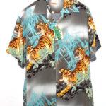 2017/S/S RAYON ALOHA SHIRT PROWLING TIGER レーヨンアロハシャツ