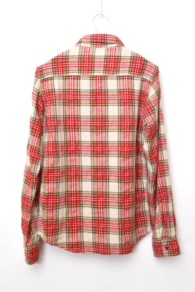 刺繍チェック 長袖ワークシャツの買取実績画像