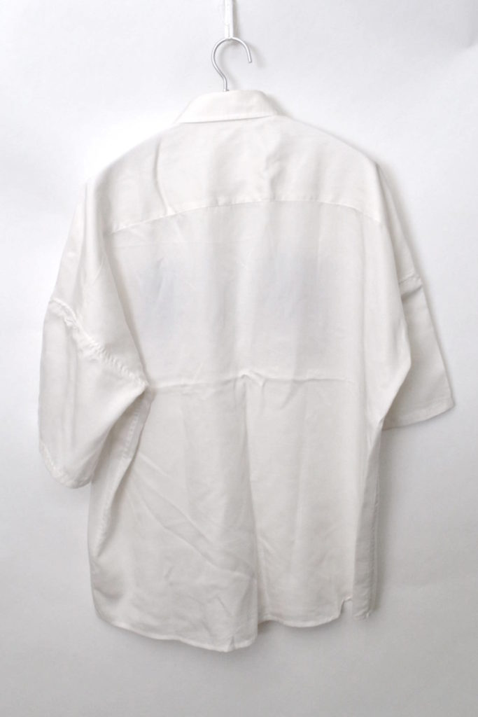 "2018SS/""BARCORD"" EMB. S/S BIG SHIRTS バーコード テンセル半袖 ビッグシャツの買取実績画像"