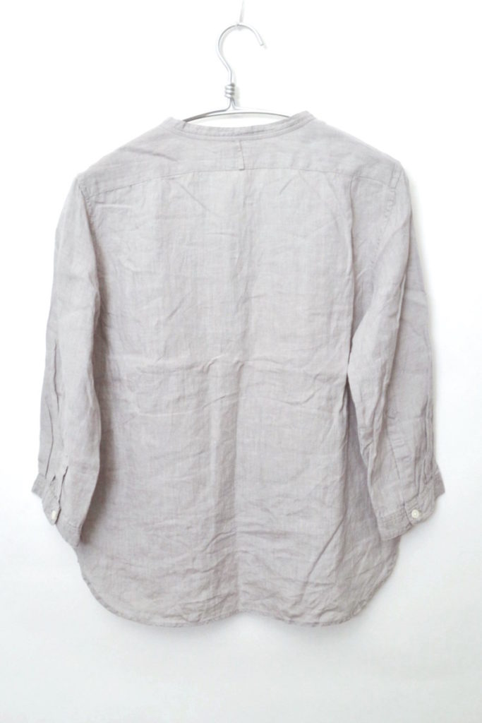 2014SS/リネン100% バンドカラーシャツの買取実績画像