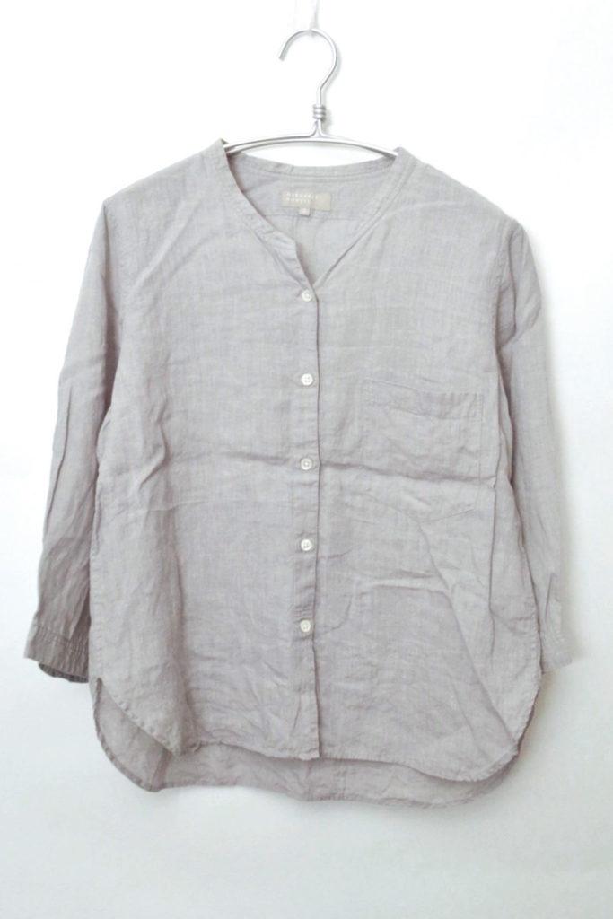 2014SS/リネン100% バンドカラーシャツ