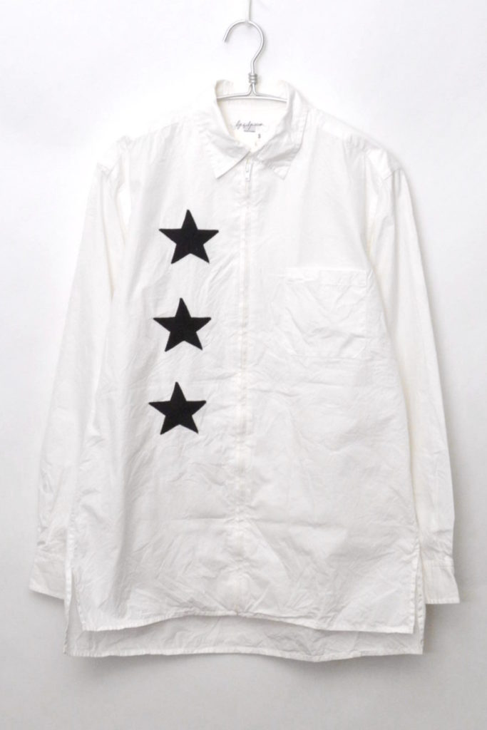 スター刺繍 ジップロングシャツ