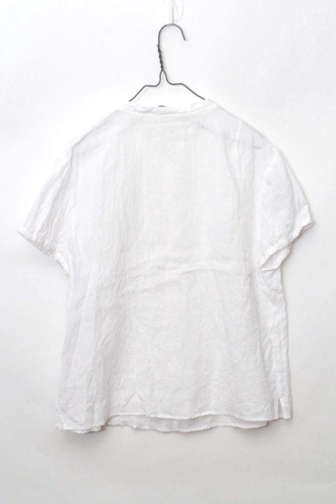 スタンドカラー フロントタック リネンブラウス シャツの買取実績画像