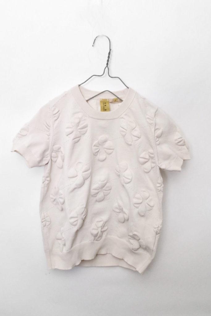 AD2006 2007SS/ ポリエステル 花 半袖ニット Tシャツ カットソー