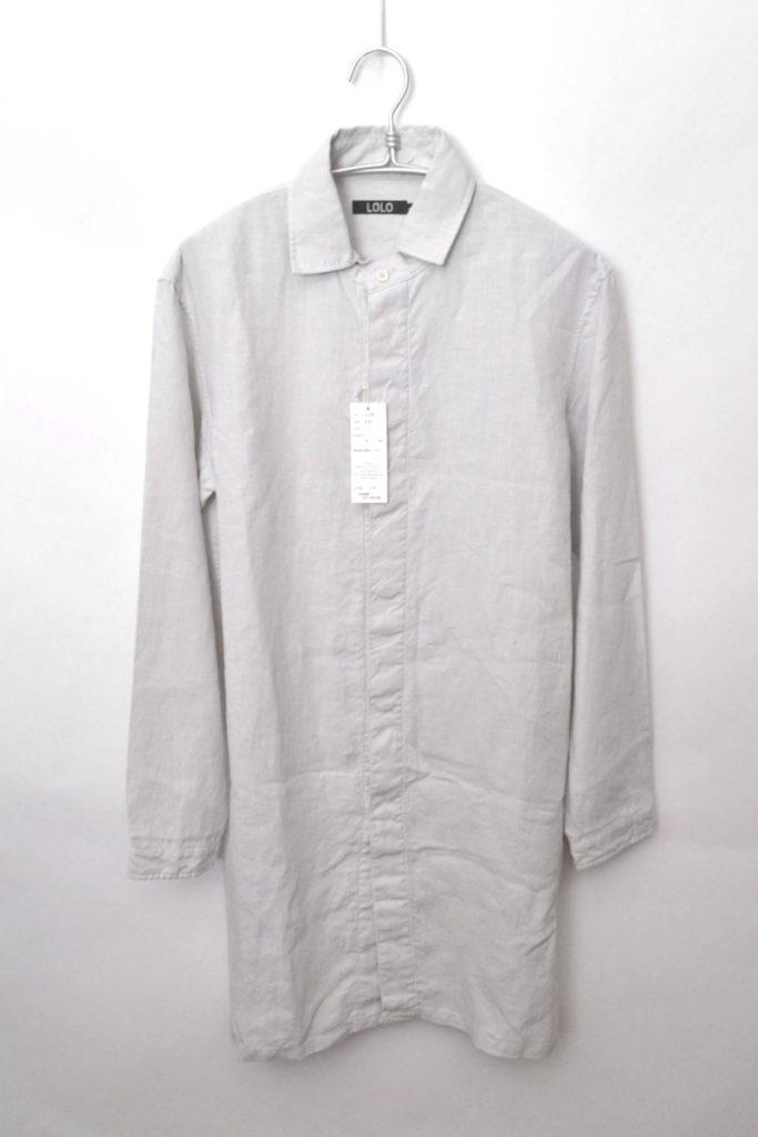 リネン ロングシャツ コート