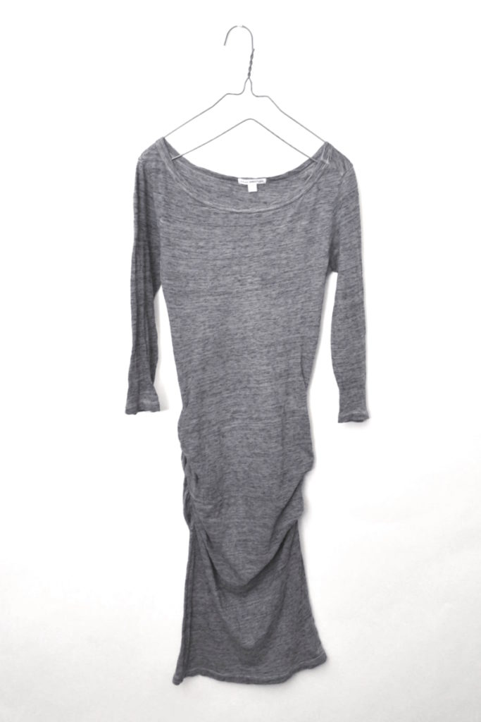 Jewel Neck Dress ドレープ カットソー ワンピース ドレス