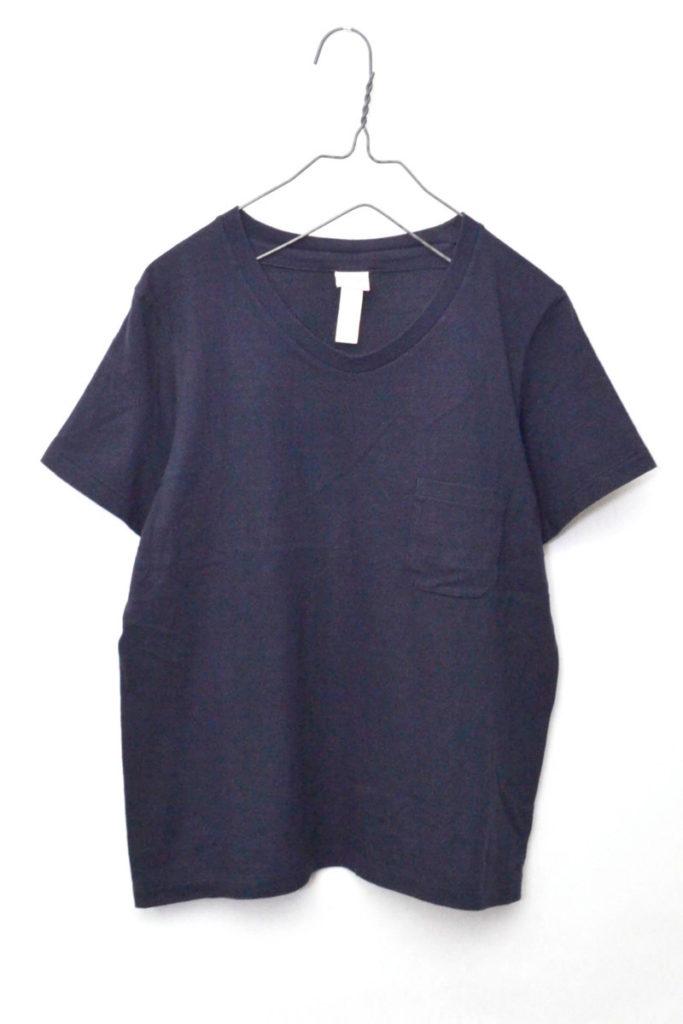 STOCK / 15062 丸胴 Uネック ポケットTシャツ