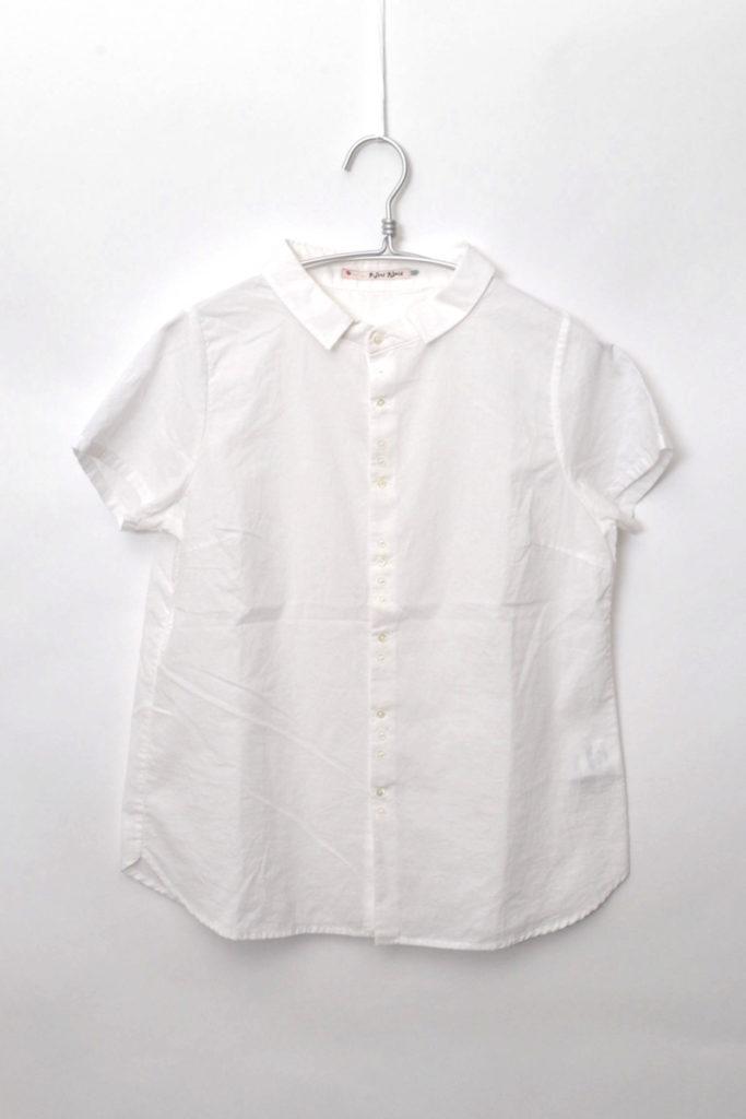 ちび襟 多ボタン 半袖ブラウス シャツ