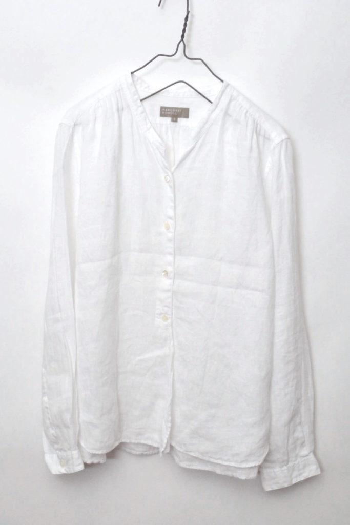 2016SS/ リネン100% バンドカラーシャツ