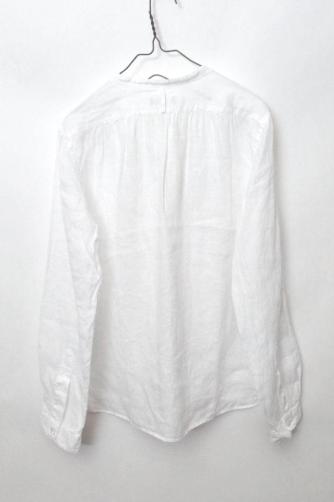 2016SS/ リネン100% バンドカラーシャツの買取実績画像