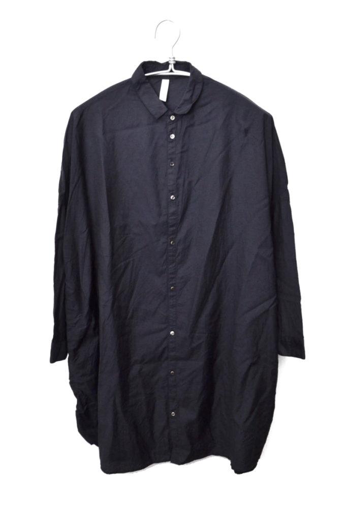 キュプラコットン ワイドシルエットロングシャツ チュニック