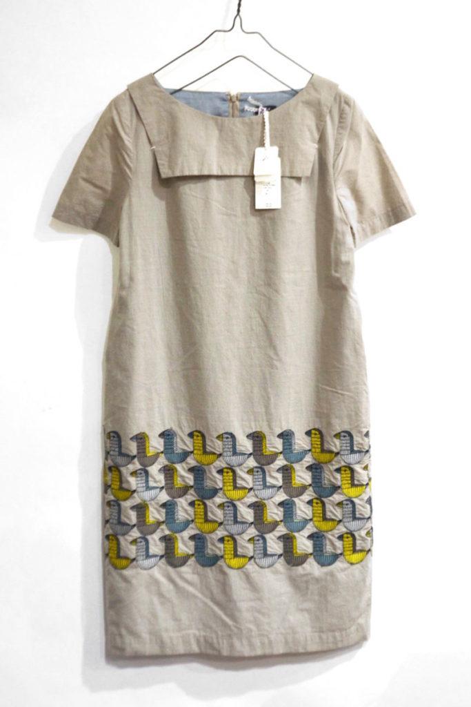 wood bird セーラーカラー コットン ドレス ワンピース