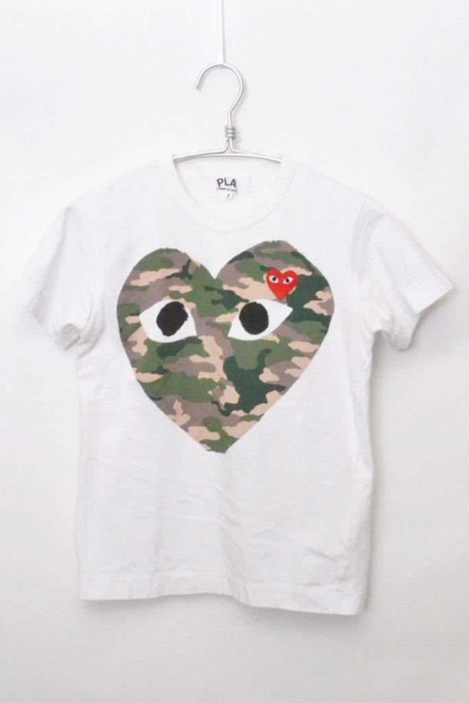 AD2017/8 迷彩ハート 半袖Tシャツ