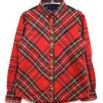 Tartan Boyfriend Fit Shirt タータンチェックBDシャツ