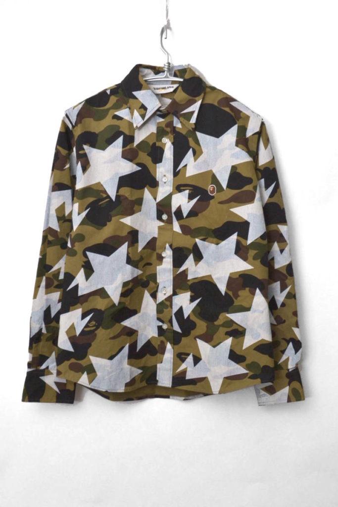 サル迷彩 スタープリントシャツ