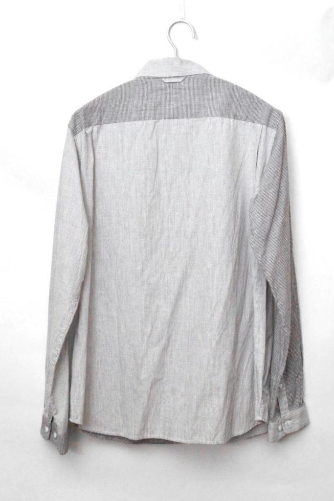 NR11350H チェック ストライプ切替 長袖シャツの買取実績画像
