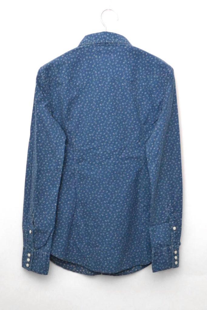 インディゴ小花柄 ウエスタンシャツの買取実績画像