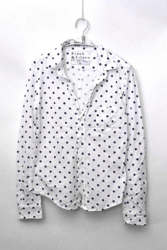 RON HERMAN別注/BARRY/THOMAS MASON 鹿の子生地 スキッパーシャツ