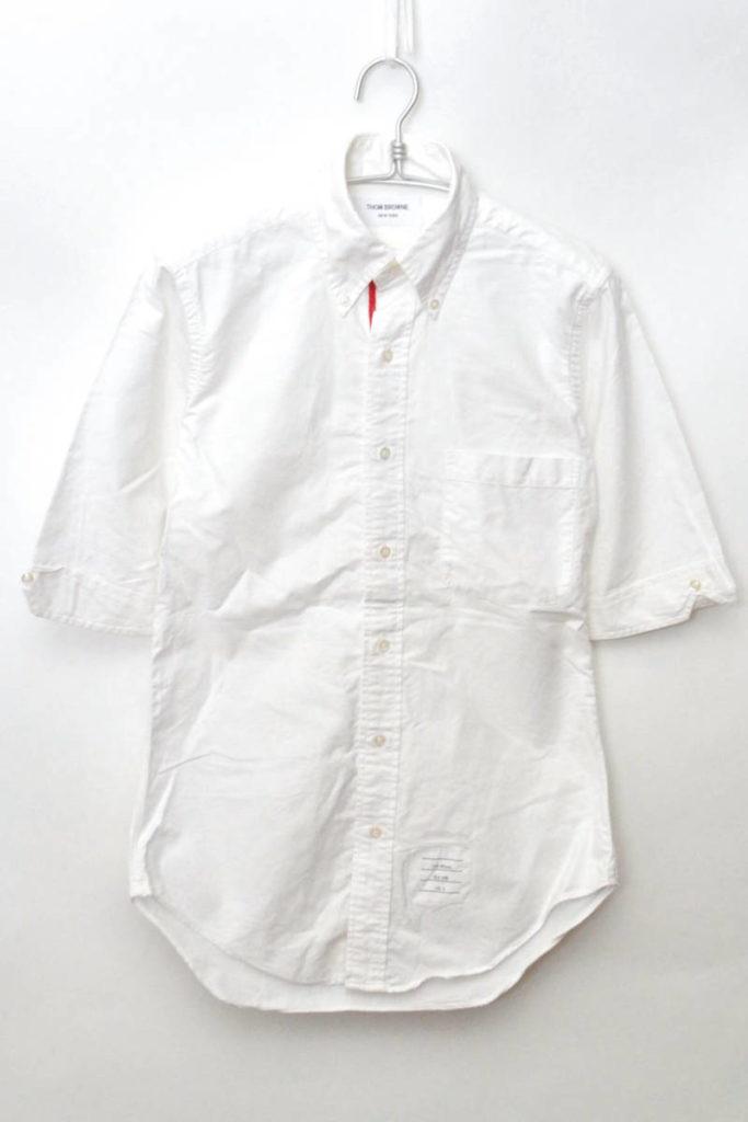 トリコロールテープ オックスフォード5分袖BDシャツ