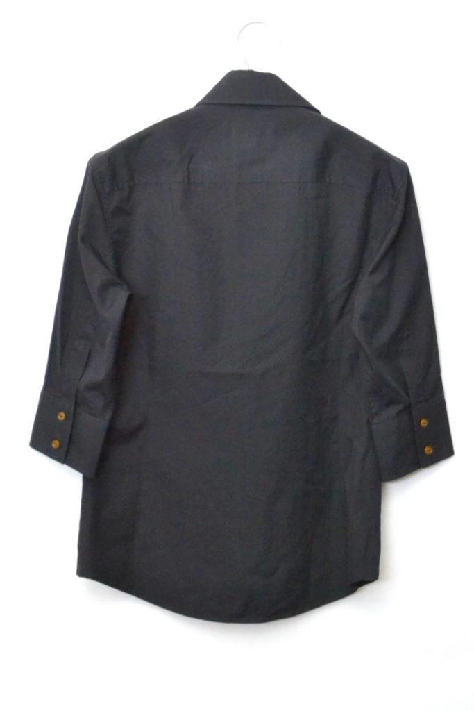 アシンメトリーカラー コットンブロード 5分袖シャツの買取実績画像