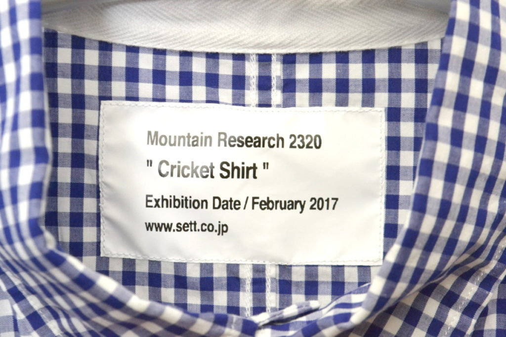 2017AW/ CRICKET SHIRT GINGHAM ギンガムチェック クリケットシャツの買取実績画像