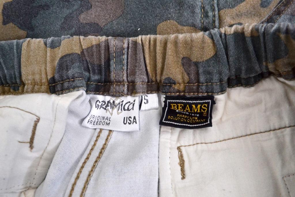 × BEAMS/別注 裾リブ カモフラージュ柄 クライミングパンツ ジョガーパンツの買取実績画像