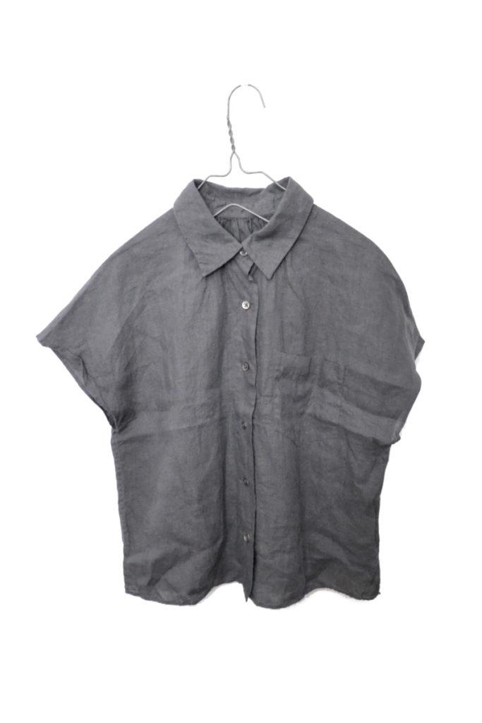 リネン フレンチスリーブシャツ ブラウス