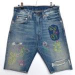 505-0217 刺繍カットオフショーツ