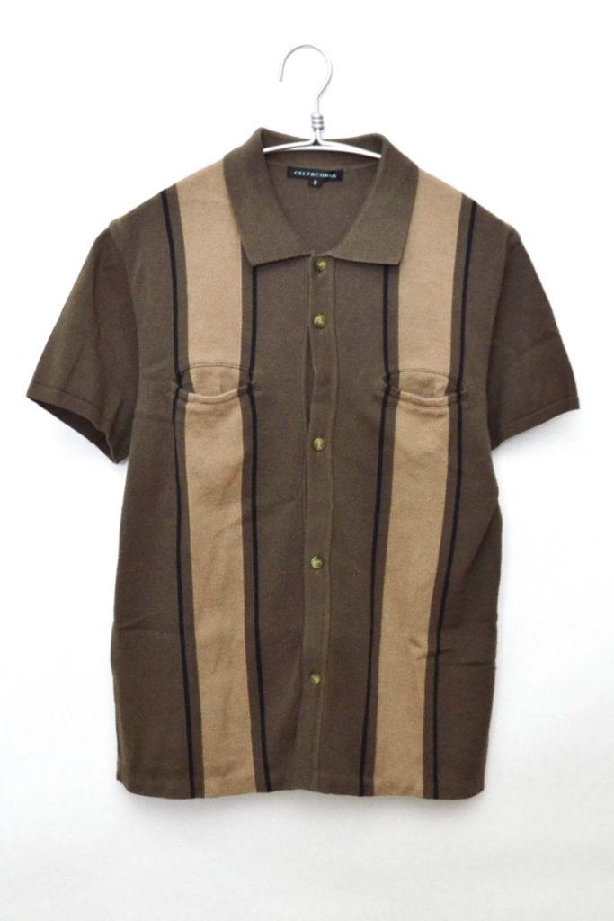 コットンニット 半袖シャツ