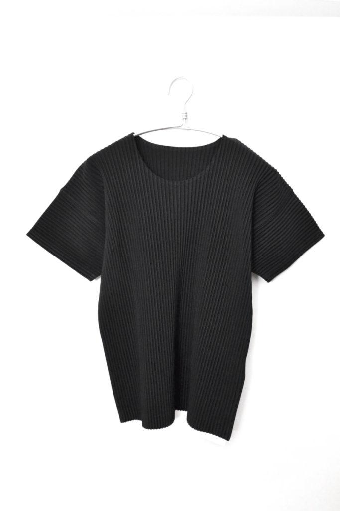 BASICS プリーツ 半袖カットソー Tシャツ