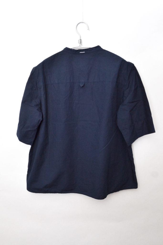 2018SS/COTTON RAMIE POPLIN コットンラミーポプリン 半袖バンドカラーシャツの買取実績画像