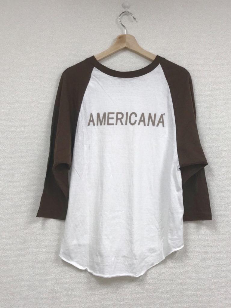 2019SS/ラグランスリーブ 7分袖 バック プリント ベースボール Tシャツの買取実績画像