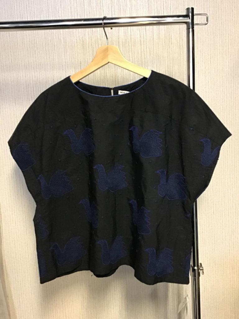 2017SS/swan スワン コットンシルク 刺繍 ブラウス