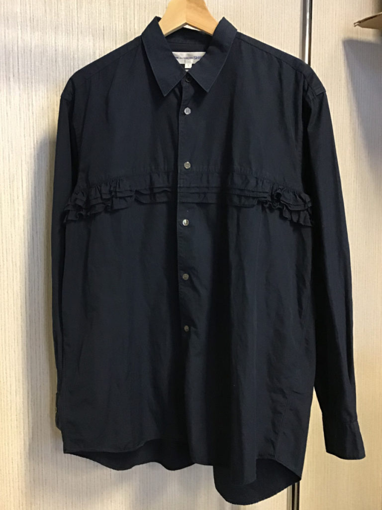 ティアードギャザー ブロードシャツ