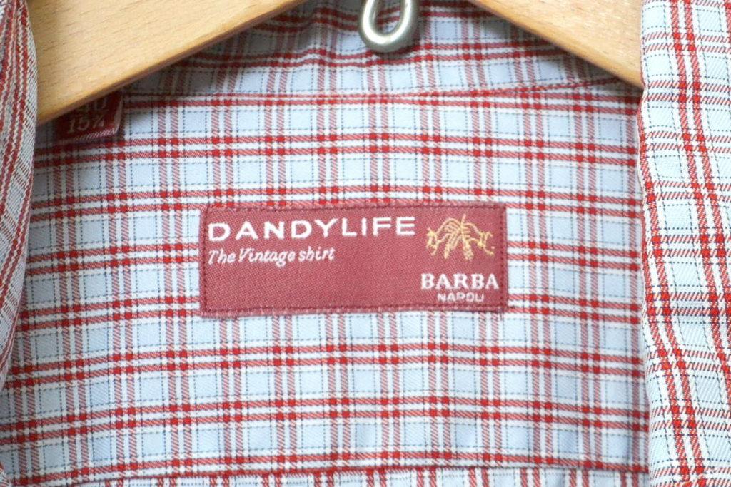 DANDY LIFE/ワイドカラー チェック長袖シャツの買取実績画像