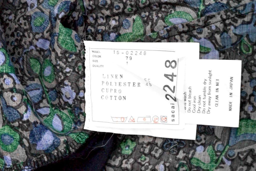 2015SS/ 前後 異素材切替 ポケットTシャツ チュニックの買取実績画像