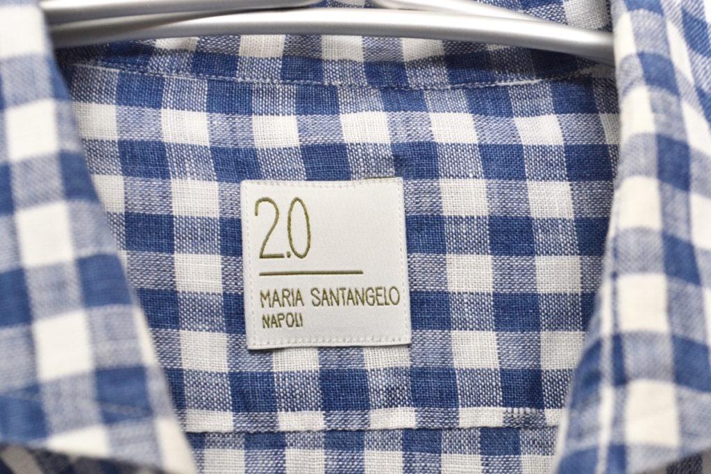 リネン ギンガムチェック ホリゾンタルカラーシャツの買取実績画像