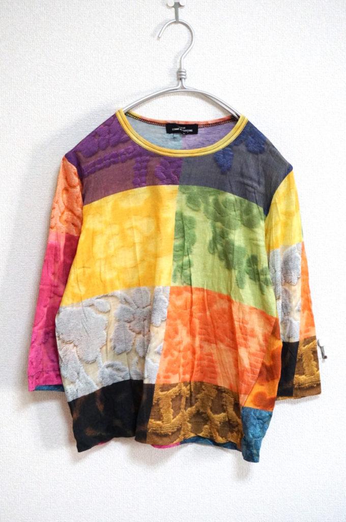AD2014 2014AW/ マルチカラー パッチワーク柄転写 カットソー Tシャツ