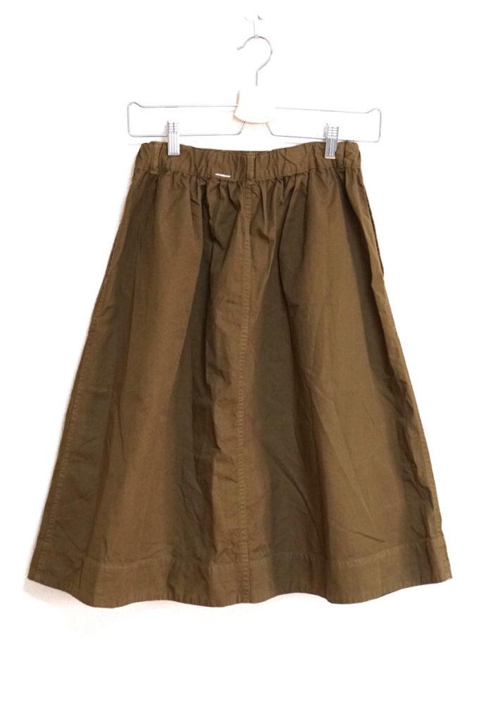 2017SS/SUPERFINE COTTON TWILL コットンツイル スカートの買取実績画像