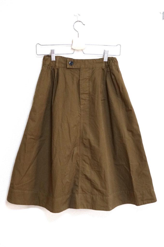 2017SS/SUPERFINE COTTON TWILL コットンツイル スカート