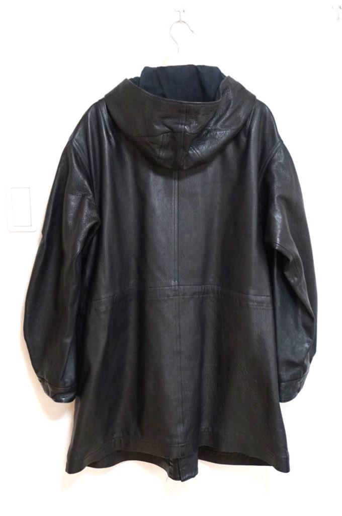 フード付き 水牛レザーコート ジャケットの買取実績画像