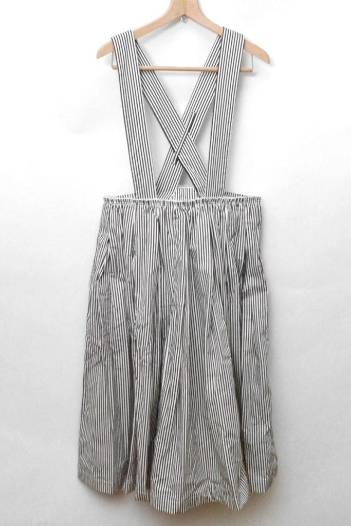 2017SS ストライプ ギャザージャンパースカート