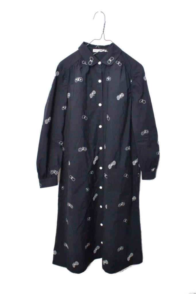 2017AW/choucho 蝶々刺繍 シャツ ワンピース
