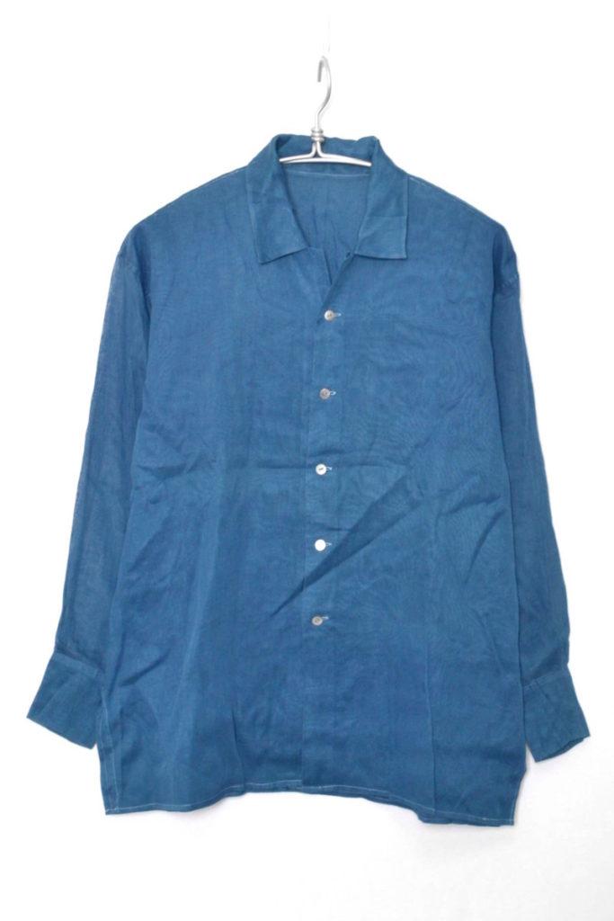 コットンオープンカラーシャツ