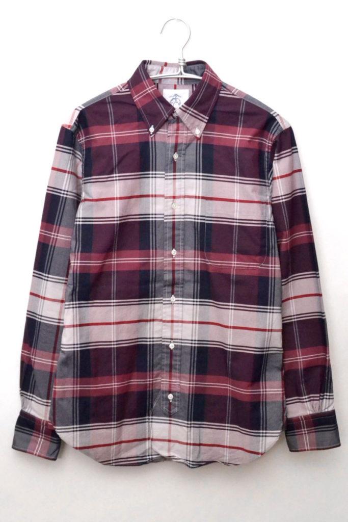 オックスフォード チェックBDシャツ