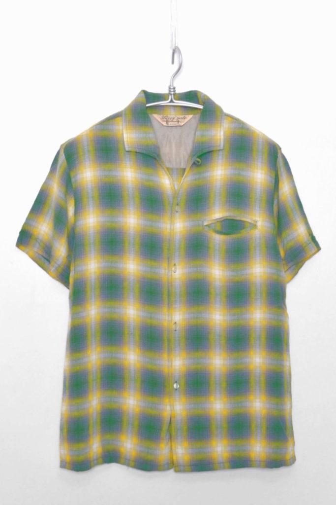 レーヨン オープンカラーシャツ